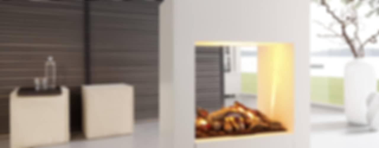 Kamin-Design GmbH & Co KG Oturma OdasıŞömine & Aksesuarları Orta Yoğunlukta Lifli Levha Beyaz