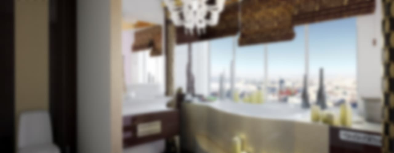 Интерпретация арт-деко: Ванные комнаты в . Автор – Decor&Design,
