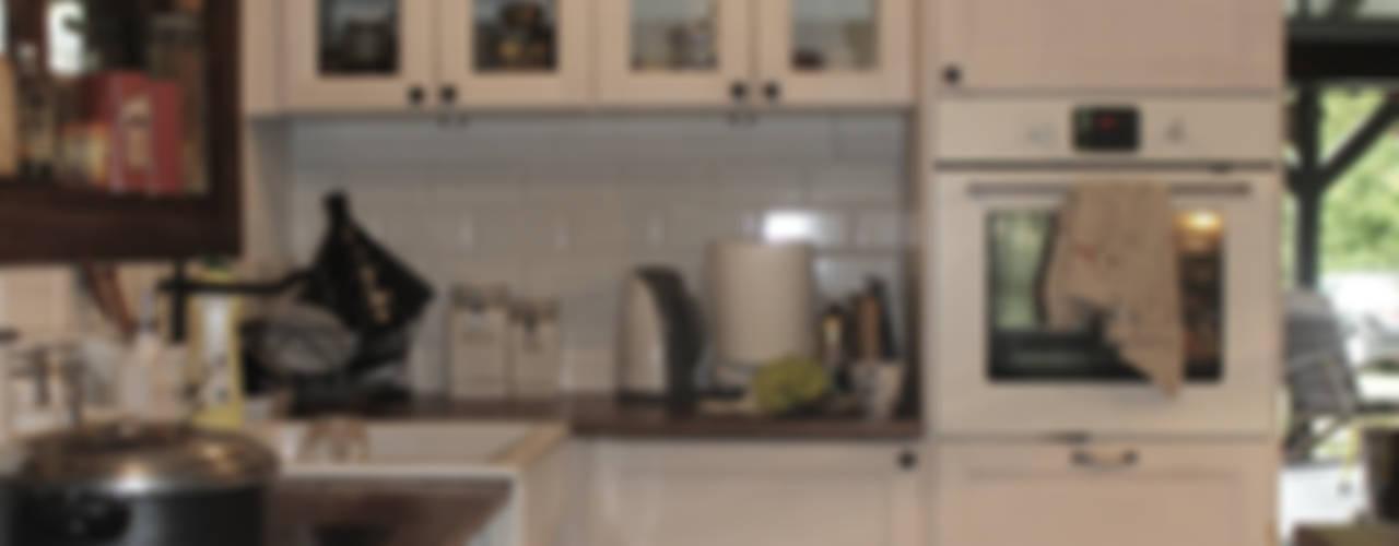 89 metrowy dom k. Warszawy: styl , w kategorii Kuchnia zaprojektowany przez dziurdziaprojekt,Rustykalny