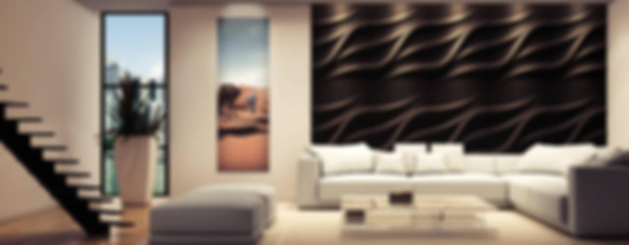 Modern Oturma Odası Loft Design System Deutschland - Wandpaneele aus Bayern Modern