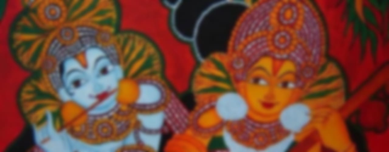 Traditional tanjore paintings and Kerala murals:   by SHEEVIA  INTERIOR CONCEPTS