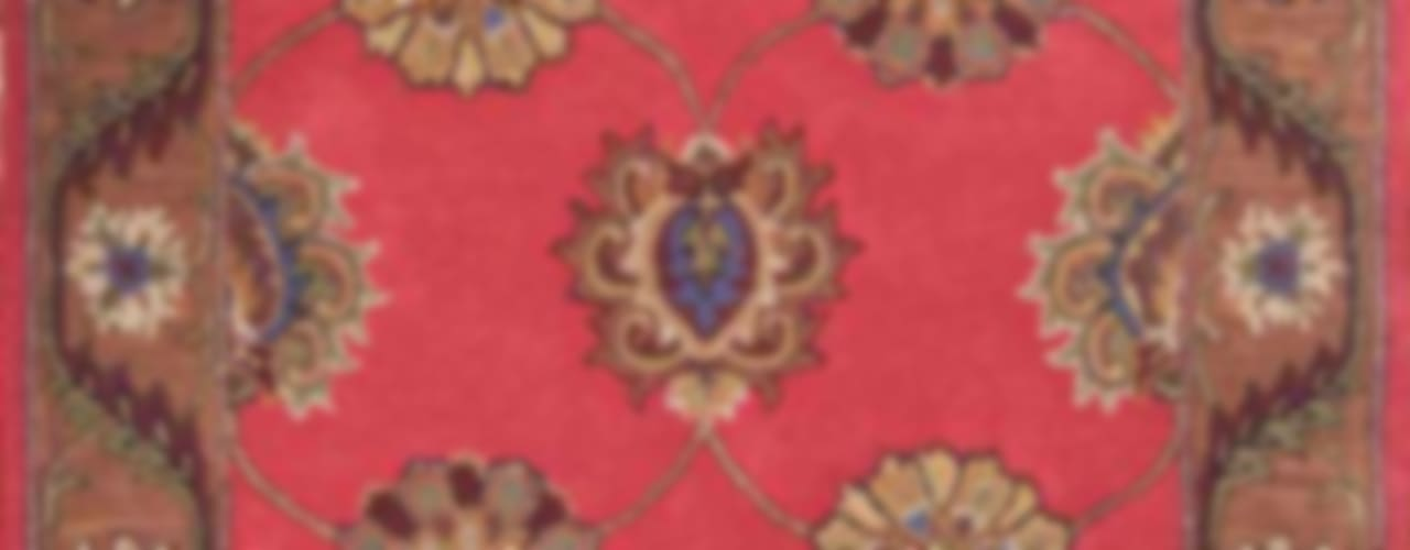 Oriental persian area rug handmade Red Brown carpet:   by Midas craft