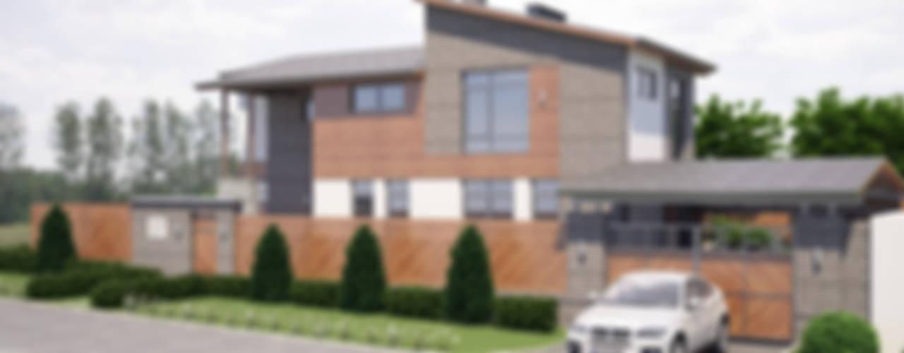 Частный дом для молодой семьи «PUZZLE HOUSE»: Дома в . Автор – studio forma
