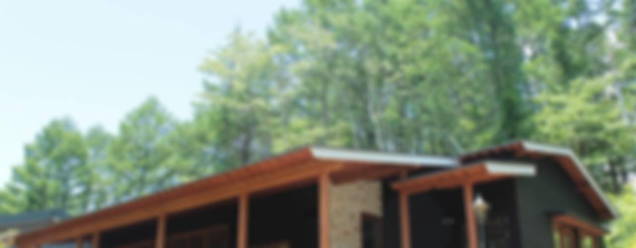 軽井沢 灯りの家/新築別荘 オリジナルな 家 の 一級建築士事務所 アトリエ カムイ オリジナル