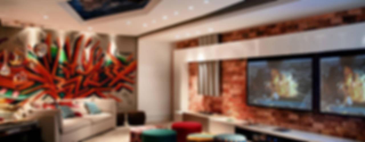 Home Theather CASACOR Asian style media room by Arte do Rizo Asian