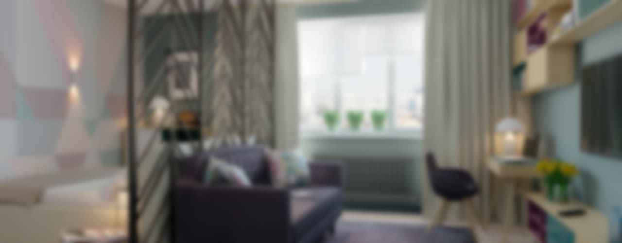 Scandinavian style living room by Anna Clark Interiors Scandinavian