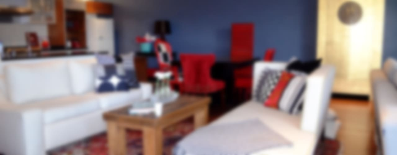 Sala y Comedor Loft: Salas de estilo  por Sandra Molina