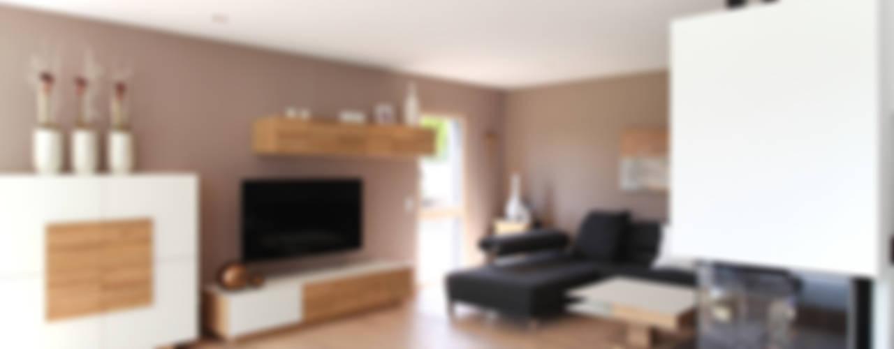 Luxusvilla mit vielen Raffinessen Moderne Wohnzimmer von Bau-Fritz GmbH & Co. KG Modern