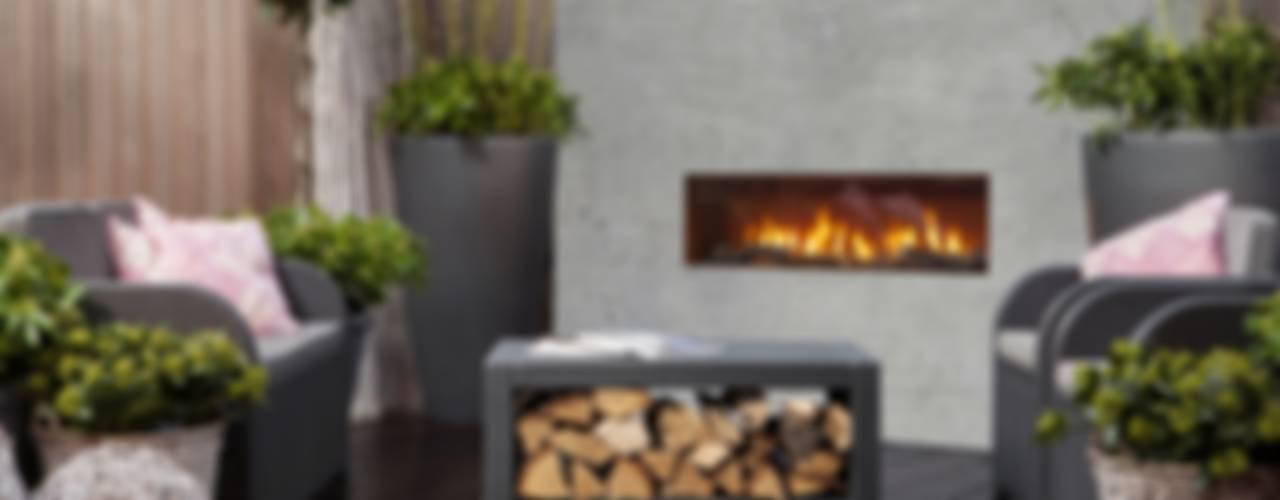 Stile & Warm Design - Outdoor by DIM'ORA:  in stile industriale di Dim-ora Caminetti su misura a gas, elettrici e a bioetanolo, Industrial