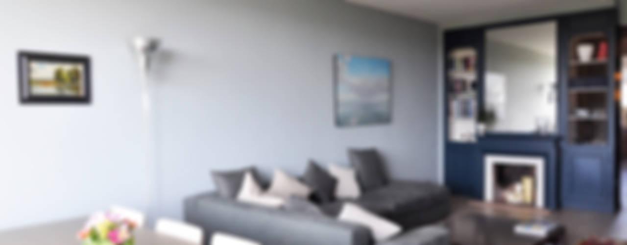 Salas de estar modernas por Barbara Sterkers , architecte d'intérieur Moderno