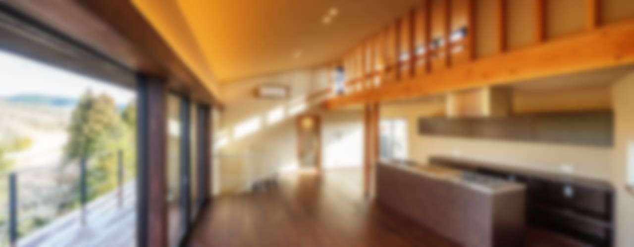 玄燈舎 傳寶慶子建築研究所 モダンデザインの リビング