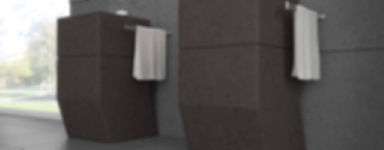 The Grey & Brown Lava Stone for the Modern Bathroom Environment de Ranieri Pietra Lavica Moderno