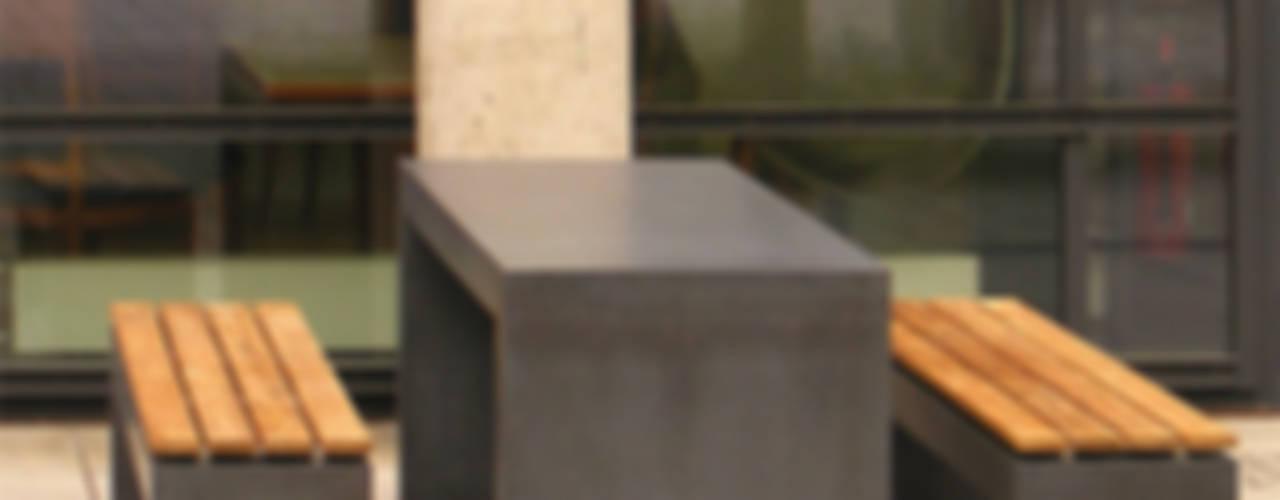 Betonbank Betontisch: modern  von oggi-beton,Modern