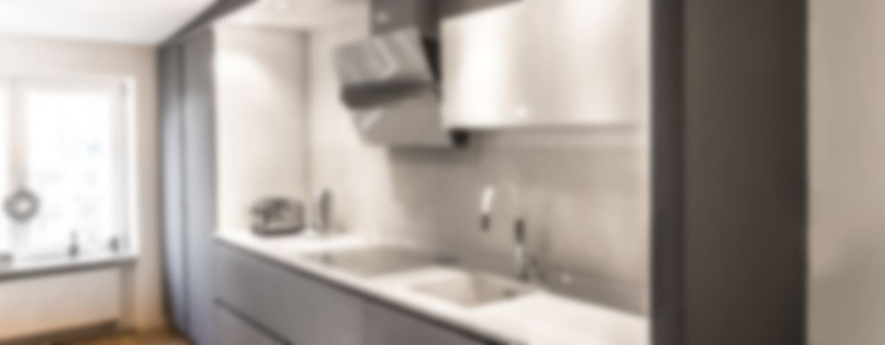 LOFT_cuisine/salle à manger Cuisine moderne par GRUPA HYBRYDA Moderne
