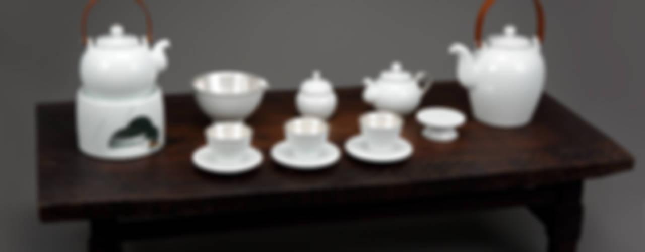 참외무늬 은칠 다기세트: 도농도예의