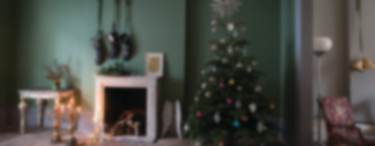 Christmas '14 Country style living room by Farrow & Ball Country