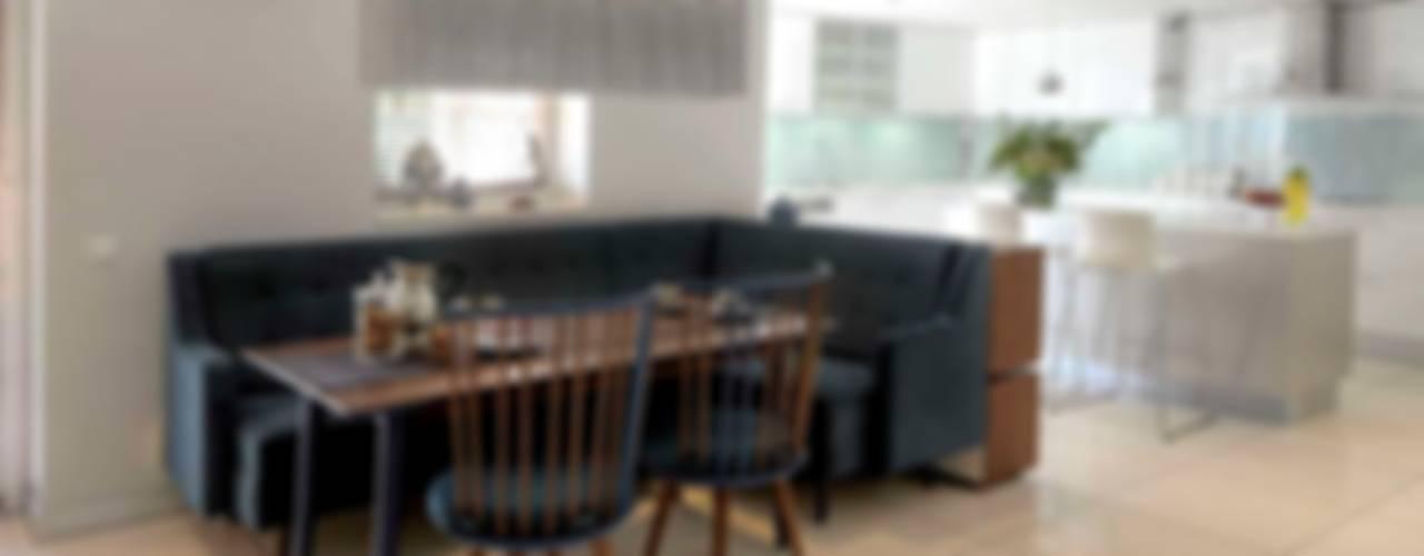 HANDE KOKSAL INTERIORS – House E - E Evi:  tarz Yemek Odası,