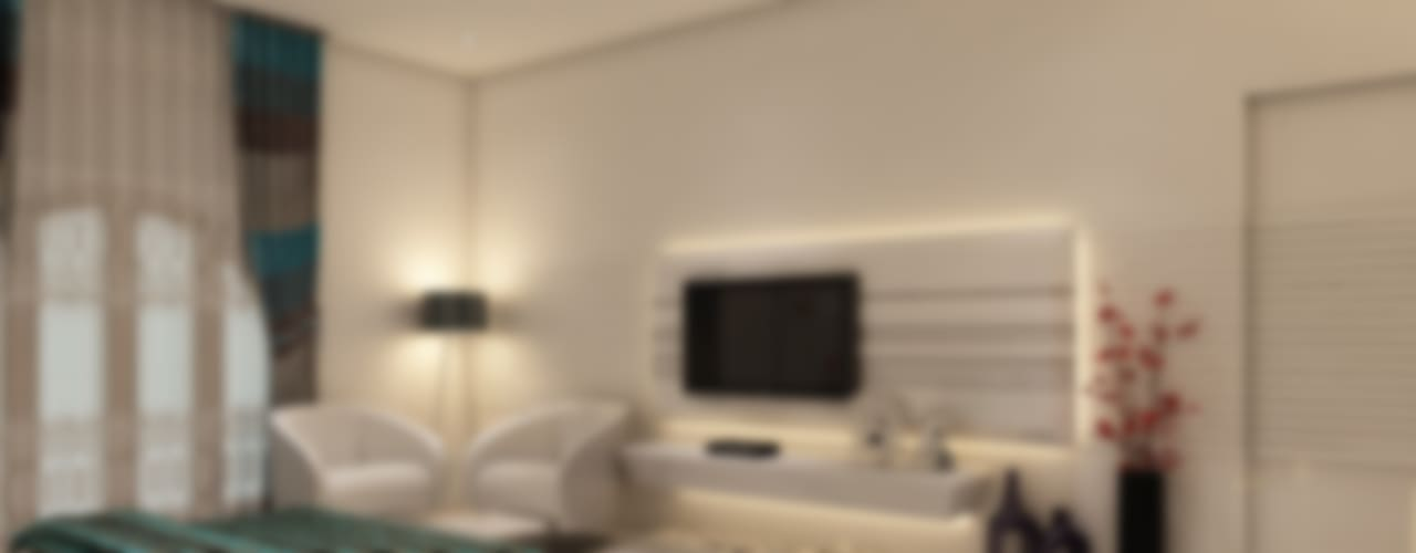 Master Bedroom:  Bedroom by K Mewada Interior Designer,