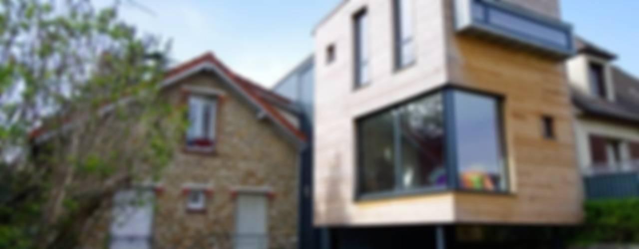 Extension de maison à Draveil Maisons modernes par Atelier d'Architecture Marc Lafagne, architecte dplg Moderne