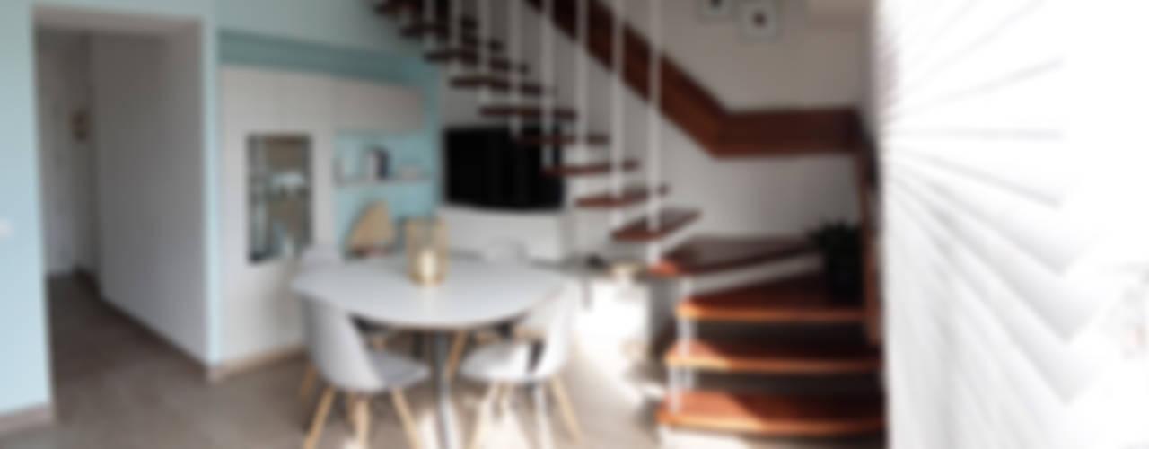 Pasillos, vestíbulos y escaleras modernos de PEANUT DESIGN STUDIO Moderno