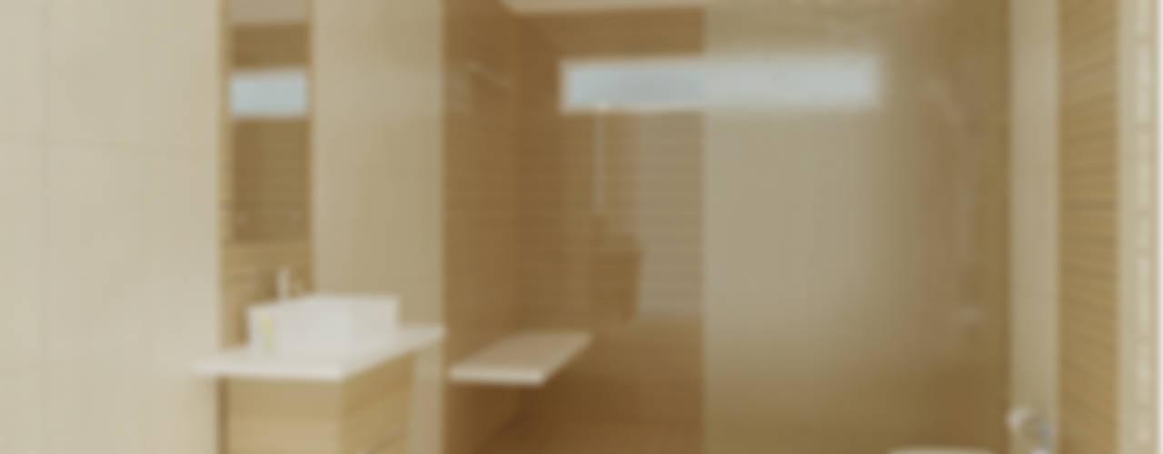 Baños de estilo  por Preetham  Interior Designer, Minimalista