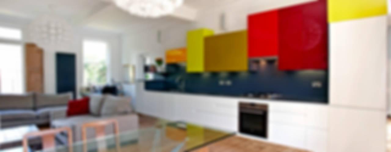 East London Apartment Cocinas de estilo moderno de Draisci Studio Moderno