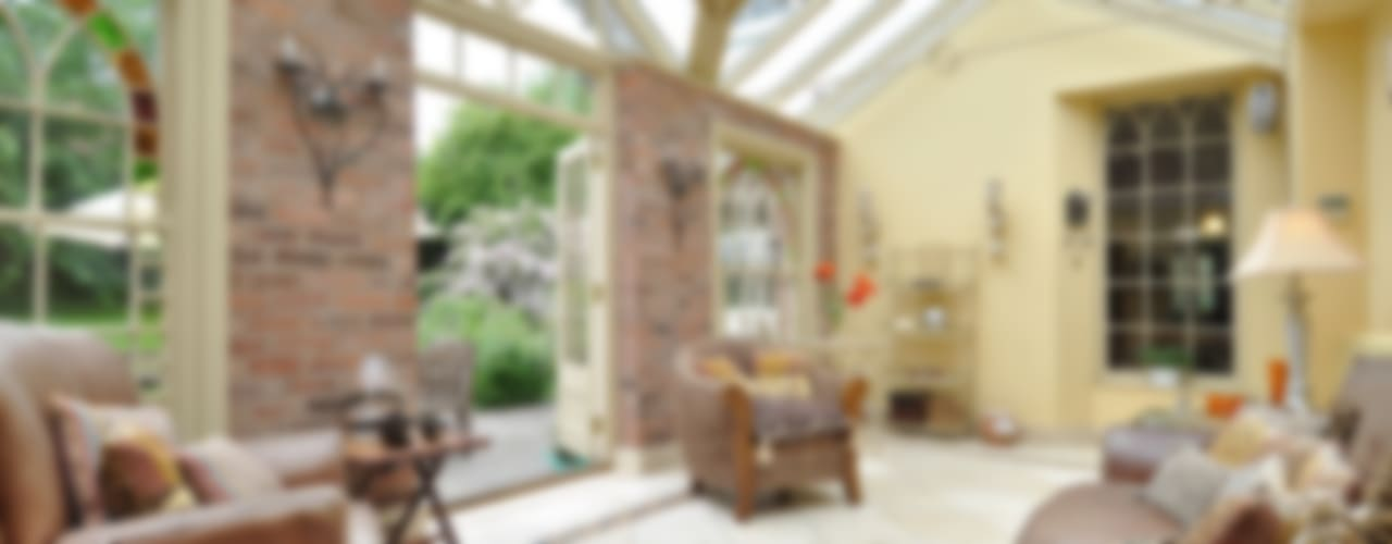A Garden Room Project Eclectic style conservatory by Deborah Warne Interiors Ltd Eclectic