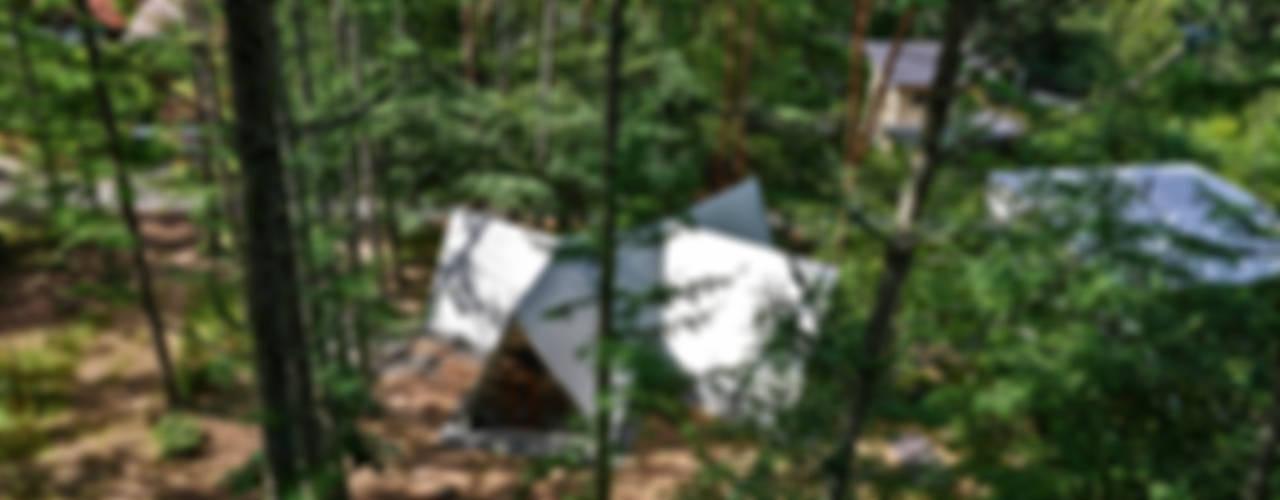 安曇野の山荘 モダンな 家 の カスヤアーキテクツオフィス(KAO) モダン