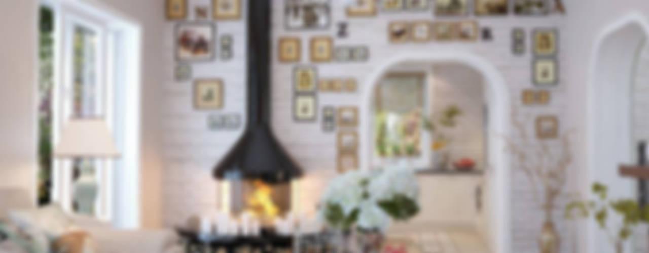 Дом в Санкт-Петербурге Гостиная в классическом стиле от студия Design3F Классический