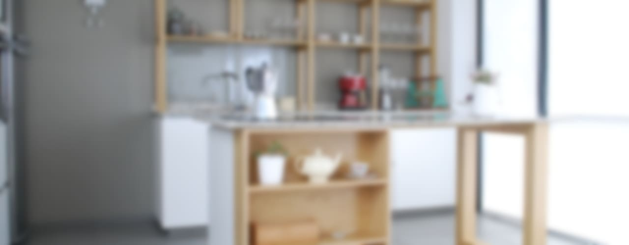 Cocina AVA // madera natural // termoformado:  de estilo  por Muebles muc.