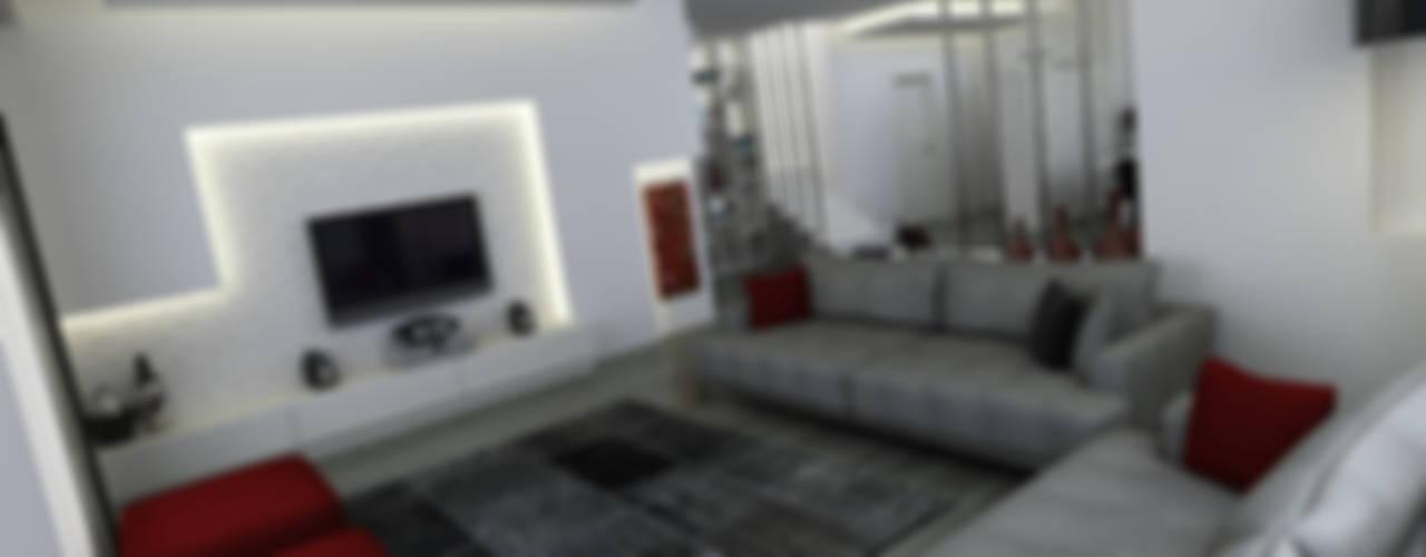 Niyazi Özçakar İç Mimarlık – E.K. EVİ:  tarz Oturma Odası