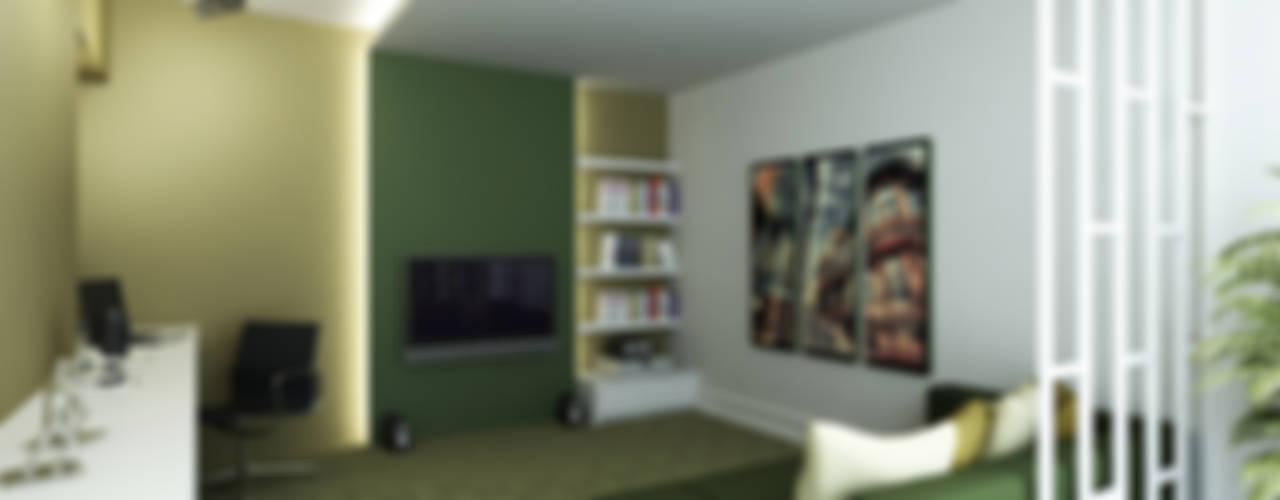 M.A. EVİ Modern Çalışma Odası Niyazi Özçakar İç Mimarlık Modern