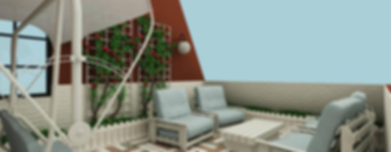 Terrasse de style  par Niyazi Özçakar İç Mimarlık