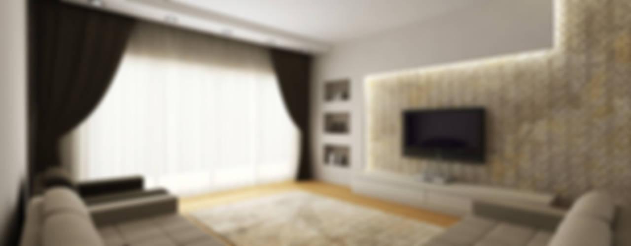 E.E. EVİ Modern Oturma Odası Niyazi Özçakar İç Mimarlık Modern