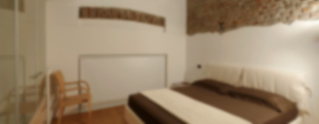 Loft a Milano; zona Ripa Ticinese Camera da letto moderna di Studio Arch. Matteo Calvi Moderno