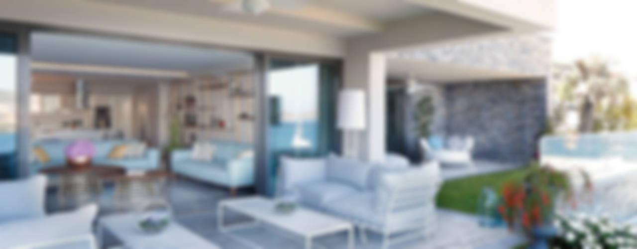 OLABELLA // RESIDENTIAL PROJECT Modern Balkon, Veranda & Teras Escapefromsofa Modern