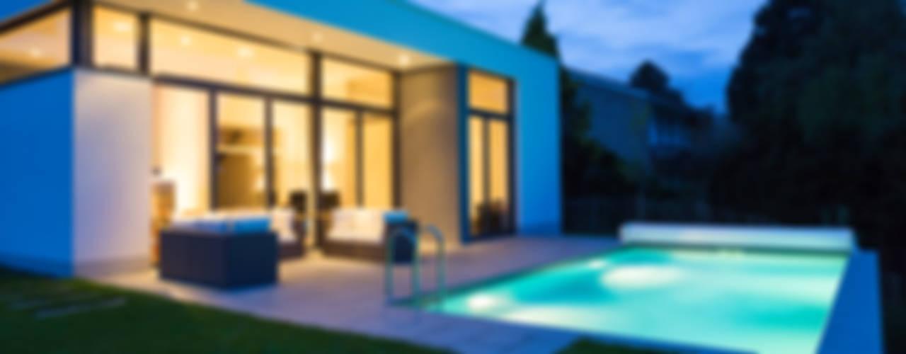 Wohnhaus mit Pool Moderne Pools von Beck+Blüm-Beck Architekten Modern