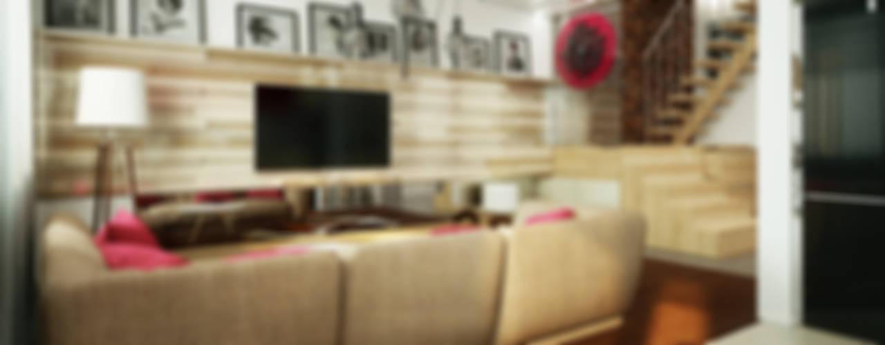 Проект квартиры для молодоженов Коридор, прихожая и лестница в стиле минимализм от 'PRimeART' Минимализм