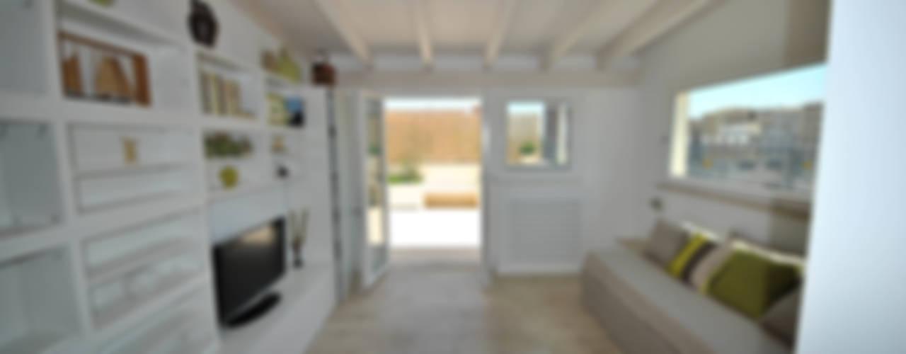 Attico quartiere ostiense, zona gazometro - Roma Soggiorno minimalista di Formaementis Minimalista