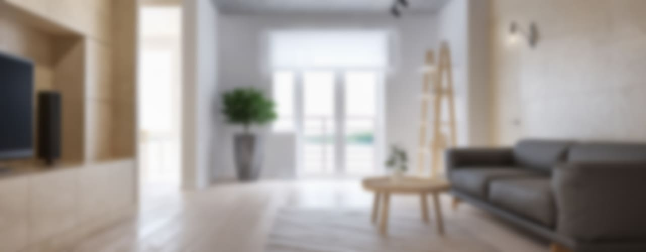 Salones minimalistas de INT2architecture Minimalista