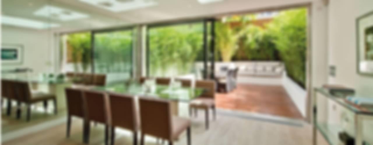 Chelsea Family House Black and Milk | Interior Design | London Modern Dining Room