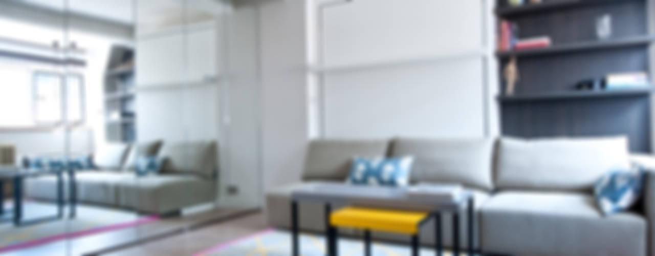 City Pied a Terre Salas de estar modernas por Black and Milk | Interior Design | London Moderno