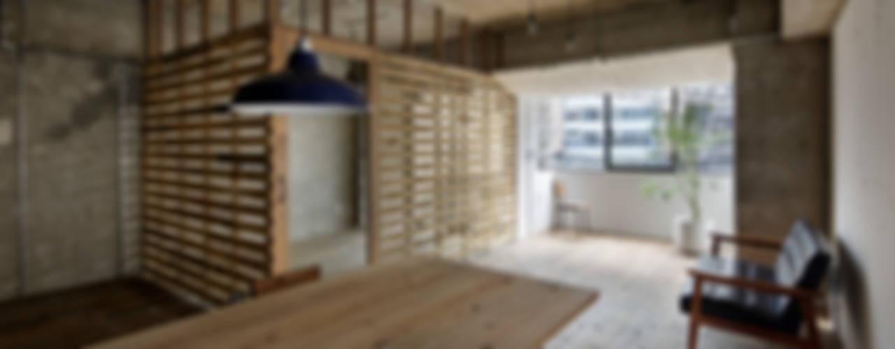 Comedores de estilo rústico de 蘆田暢人建築設計事務所 Ashida Architect & Associates Rústico