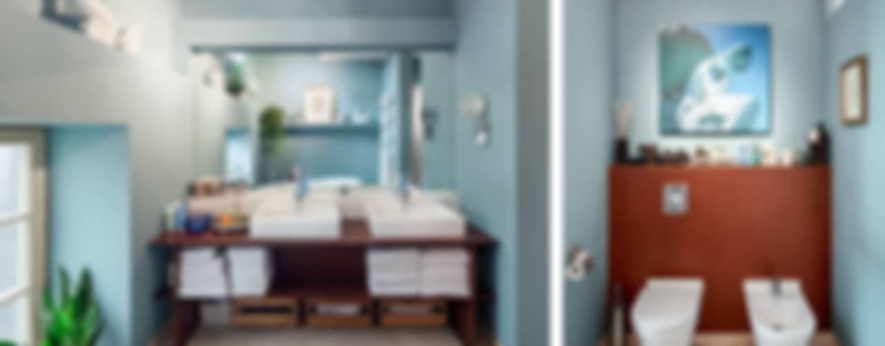 Masterbad:  Badezimmer von BERLINRODEO interior concepts GmbH