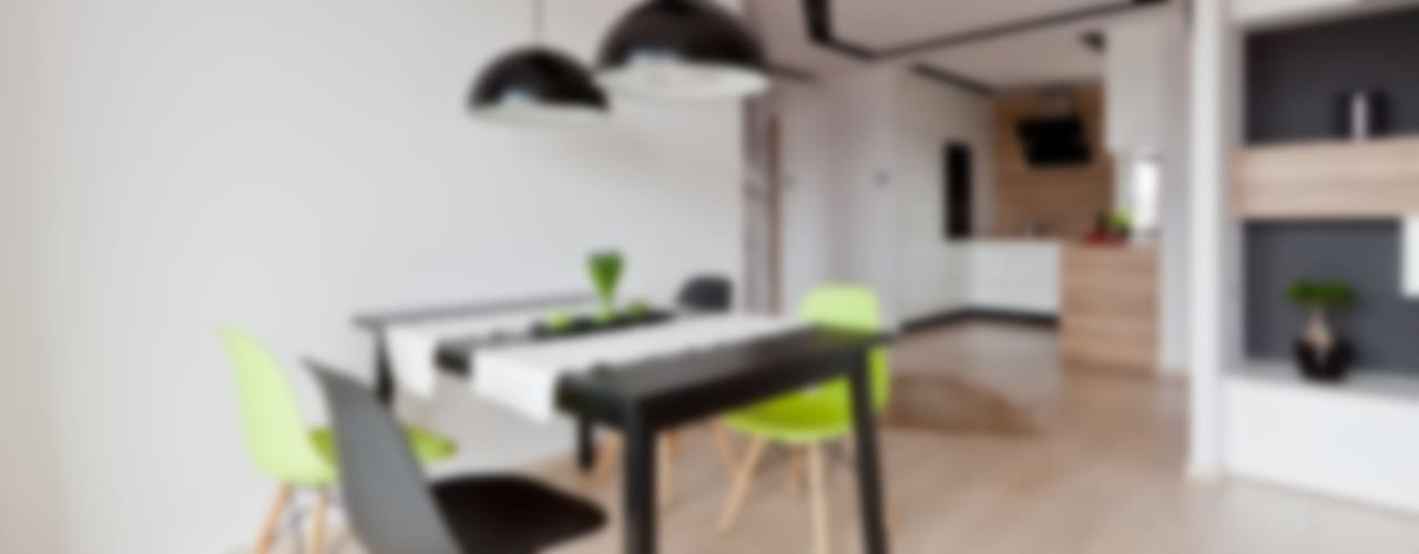 mieszkanie w Olsztynie Skandynawska jadalnia od ap. studio architektoniczne Aurelia Palczewska Skandynawski