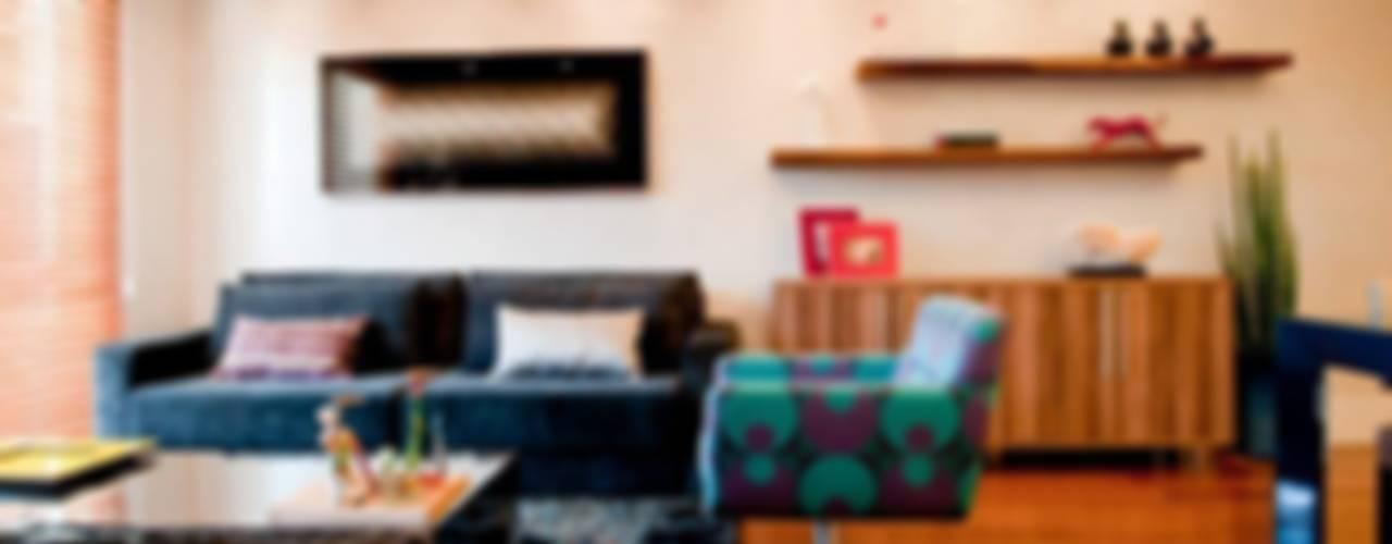 PRO INT APARTAMENTO BONETTI Salas de estar ecléticas por ArchDesign STUDIO Eclético