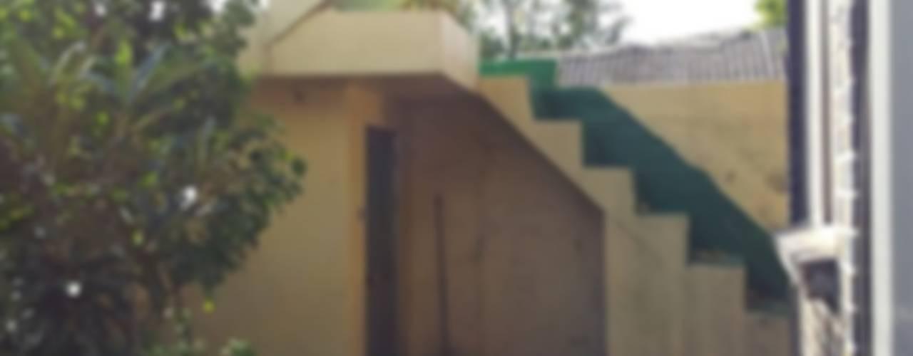 주택 리모델링 미니멀리스트 발코니, 베란다 & 테라스 by 해밀건축사사무소 미니멀