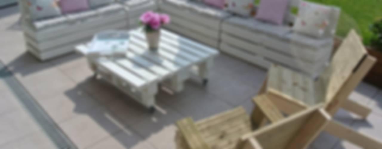 Salon de jardin réalisé avec des palettes par L' Atelier Numéro 5 Éclectique
