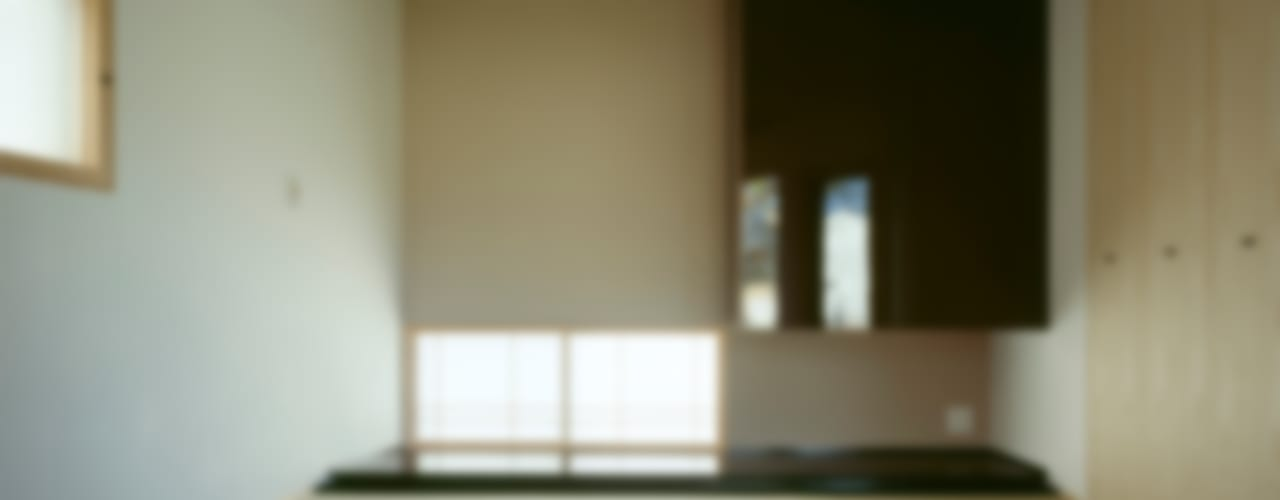 Villa Boomerang / 八ヶ岳の別荘 モダンスタイルの寝室 の 森吉直剛アトリエ/MORIYOSHI NAOTAKE ATELIER ARCHITECTS モダン