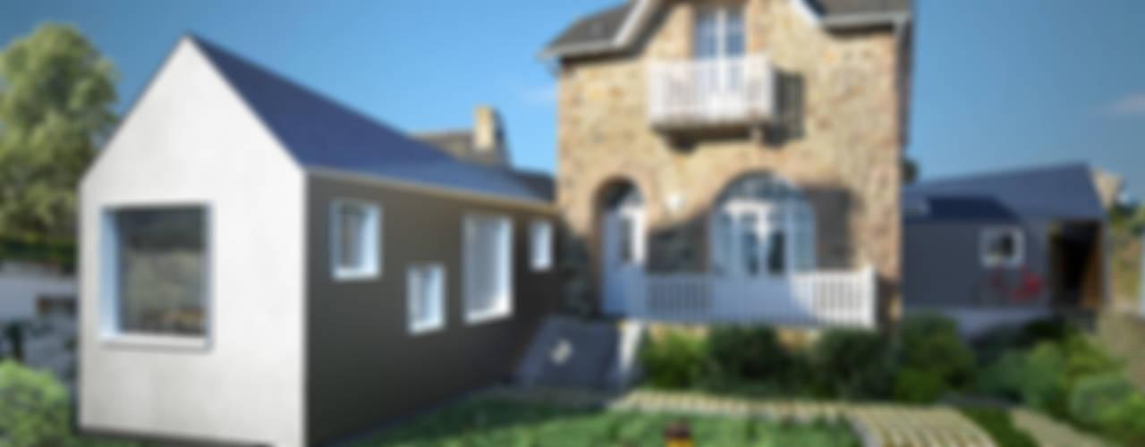 Extensions d'une maison de vacances à Trégastel (Bretagne) Maisons modernes par PLAYGROUND ATELIER D'ARCHITECTURES Moderne